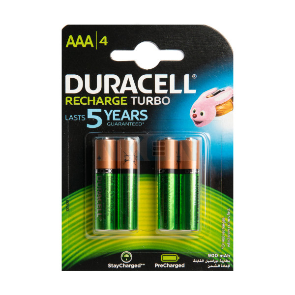 4 AAA Duracell Recharge Turbo - 850mAh
