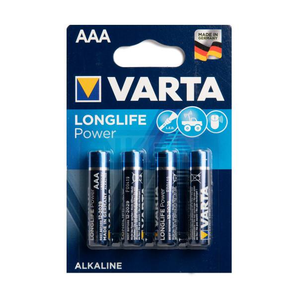 4 AAA Varta Longlife Power - блистер