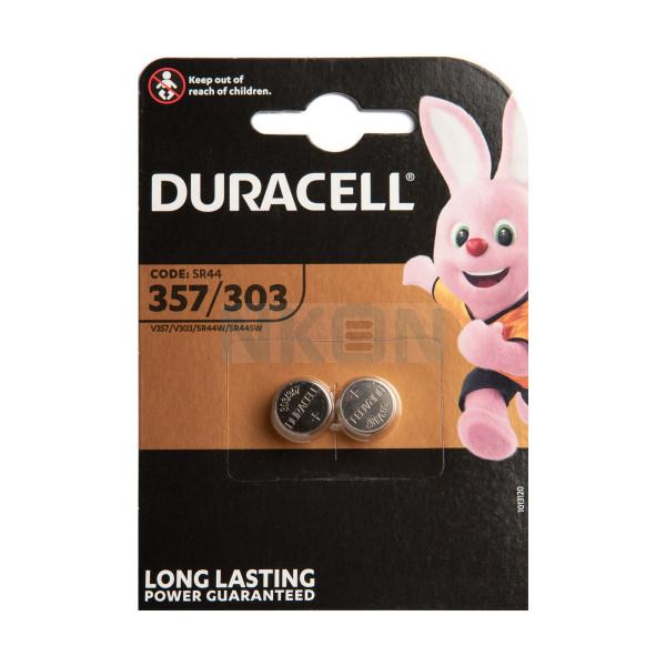 2x Duracell 357 / 303 (SR44) - 1.5V
