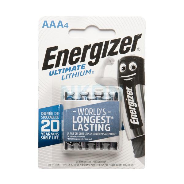 4 AAA Energizer L92 литиевые батарейки