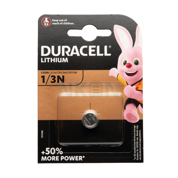 Duracell 1/3N (2L76/CR1/3N/CR11108) - 3V