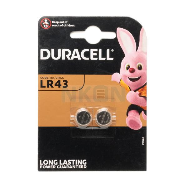 2x LR43 (186 / V12GA) Duracell - 1,5V