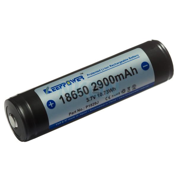 Keeppower 18650 2900mAh (защищеный) - 10A