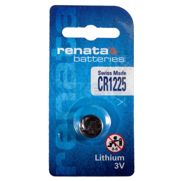 Renata CR1225 3V литиевая кнопочная батарейка