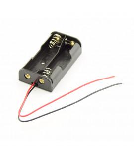 2x AA устройство для батарей с проводами