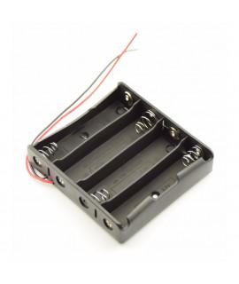 4x 18650 устройство для батарей с проводами