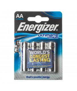 4 AA Energizer Ultimate L91 литиевый аккумулятор