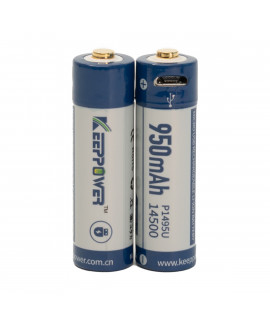 2x Keeppower 14500 950mAh (protected) - 1.8A - USB
