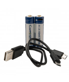 2x Keeppower AA 1950mAh (protected) - 1.5A - USB