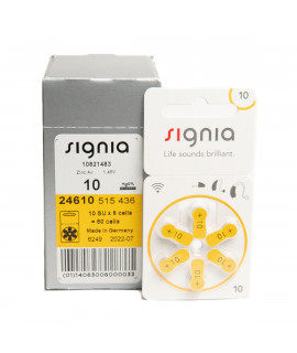 10x6 аккумуляторы Siemens Signia 10