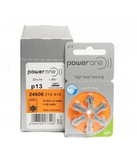 10x PowerOne 13 батарейки для слухового аппарата