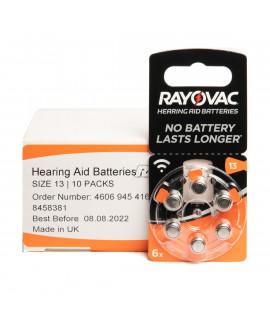 10x6 Rayovac Acoustic Special 13 батарейки для слухового аппарата