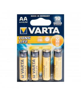 4 AA Varta Longlife - блистер
