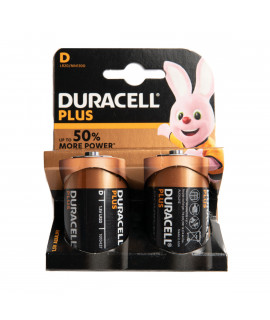 2x D Duracell Plus - блистер