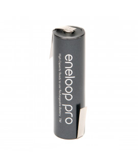 1 AA Eneloop Pro с выводами под пайку Z-tags- 2500mAh