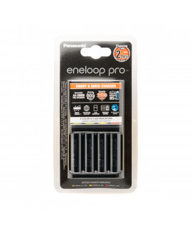 Panasonic Eneloop BQ-CC55 зарядка для батарей + 4 AA Eneloop Pro (2500mAh)