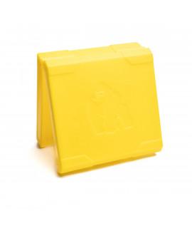 4x 18650 черный аккумулятор - желтый