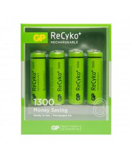 4 AA GP ReCyko+ - блистер - 1300mAh