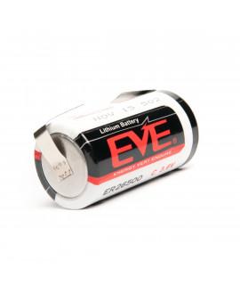 EVE ER26500 литиевая батарея C-формата с U-выводами для спаивания - 3,6 В