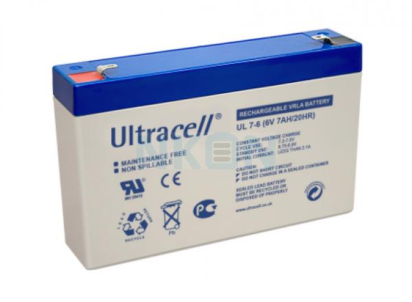 Ultracell 6V 7Ah Bleibatterie