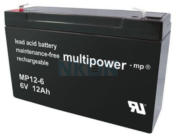 Multipower 6V 12Ah Bleibatterie (4.8mm)