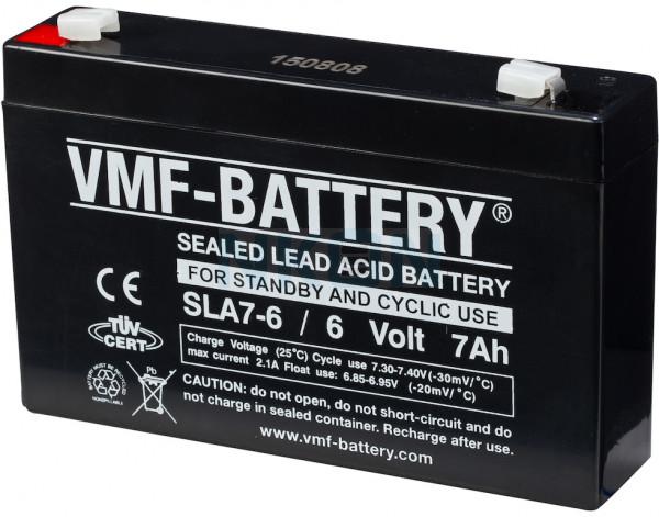 VMF 6V 7Ah Blei-Säure-Batterie