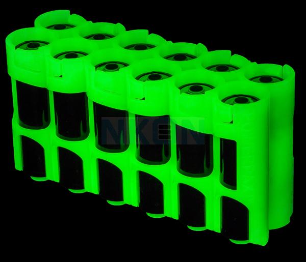 12 AA Powerpax Batteriebox  - glow in the dark