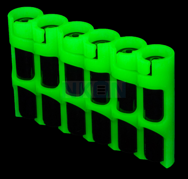 6 AAA Powerpax Batteriebox - glow in the dark