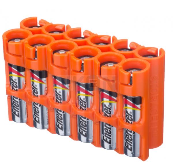 12 AAA Powerpax-Batteriefach - Orange