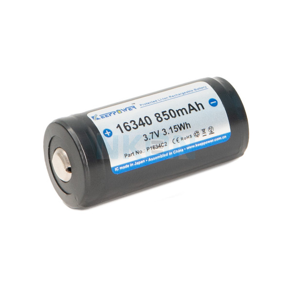 Keeppower 16340 850mAh (protected) - 2A