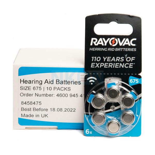 60x 675 Rayovac Acoustic Special Hörgerätebatterien