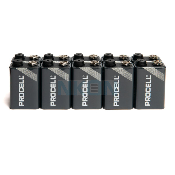 10x 9V Duracell Procell / Industrial