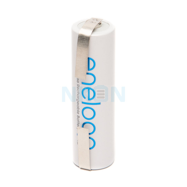 1 AA Eneloop Batterie mit Lötfahne U-Form  - 1900mAh