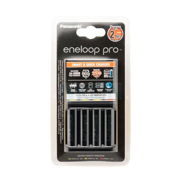 Panasonic Eneloop BQ-CC55 ladegerät + 4 AA Eneloop Pro (2500mAh)