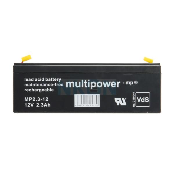 Multipower 12V 2.3Ah Bleibatterie