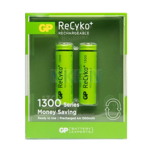 2 AA GP ReCyko+ 1300 - 1300mAh