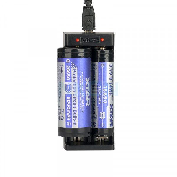 XTAR MC2 USB-ladegerät