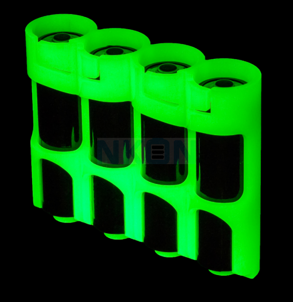 4 AA Powerpax Batteriebox  - glow in the dark