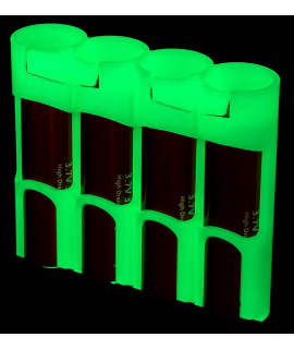 4x 18650 Powerpax Batteriebox - glow in the dark