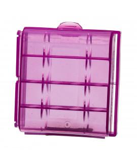 Farbige Batteriebox für 4 AA / AAA-Batterien