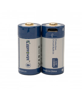 2x Keeppower 16340 800mAh (protected) - 2A - USB