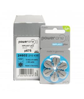 60x 675 PowerOne Implant Plus Hörgerätebatterien