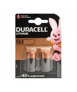 2x CR123A Duracell Lithium - blister - 3V