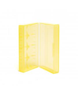 2x 18650 oder 4x 18350 Batteriebox Gelb