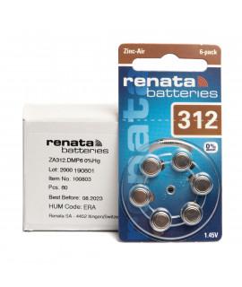 60x 312 Renata ZA Hörgerätebatterien