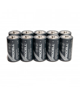 10x C Duracell Procell / Industrial - 1.5V