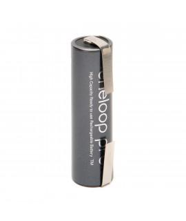 1 AA Eneloop Pro Batterie mit Lötfahne U-Form  - 2500mAh