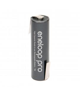 1 AA Eneloop Pro Batterie mit Lötfahne Z-Form  - 2500mAh