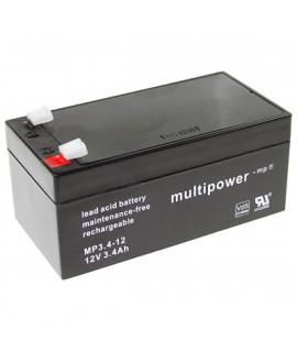 Multipower 12V 3.4Ah Bleibatterie