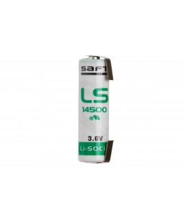 SAFT LS14500 / AA Lithium mit Lötfahne U-Form - 3,6 V